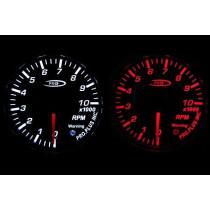 PRO RACING GAUGE 52mm - Fordulatszám mérő 10000 RPM Piros&FEHÉR